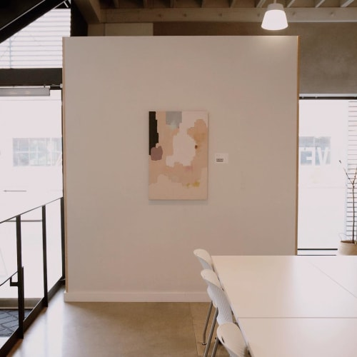Paintings by Cortney Herron seen at The Riveter: West LA, Los Angeles - BRDR02