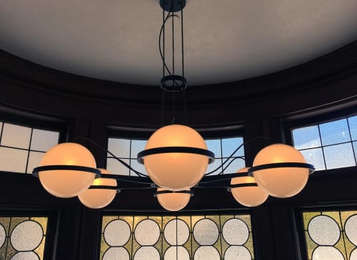 Chandeliers by McEwen Lighting Studio seen at Scribe Winery, Sonoma - Quay Suspension