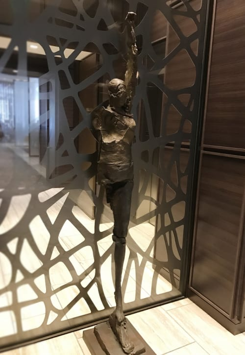 Sculptures by Stephen De Staebler seen at The St. Regis San Francisco, San Francisco - Winged Woman on One Leg III