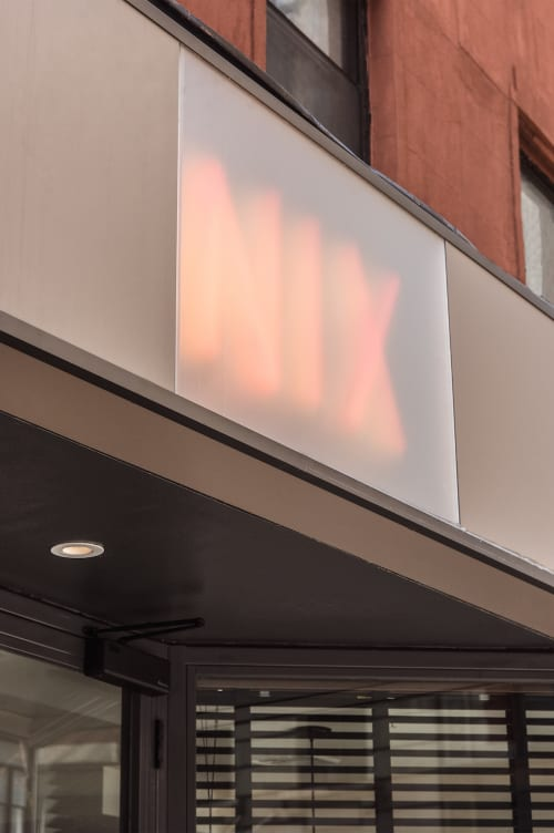 Lighting by Leni Schwendinger seen at Nix, New York - Neon Light Sign
