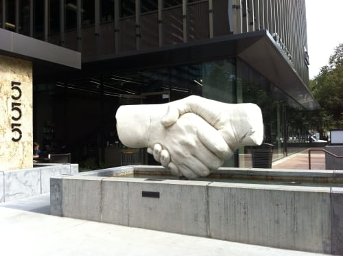 Public Sculptures by Stephen Kaltenbach seen at 555 Capitol Mall, Sacramento, CA, Sacramento - Peace