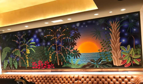 Murals by Amy Lincoln at Starbucks, New York - Landscape with Coffee Plants