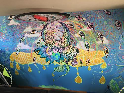 Murals by Mariel Rose Garcia seen at The Beehive, Denver - Tiger Mural