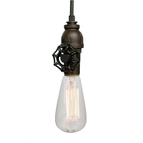Pendants by Hammers and Heels seen at The Morrie, Royal Oak - Vintage Upcycled Valve Pipe Pendant Light