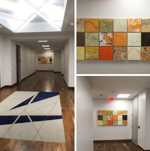 Paintings by Tracey Adams seen at Albemarle Corporation, Charlotte - Hypnagogia 7