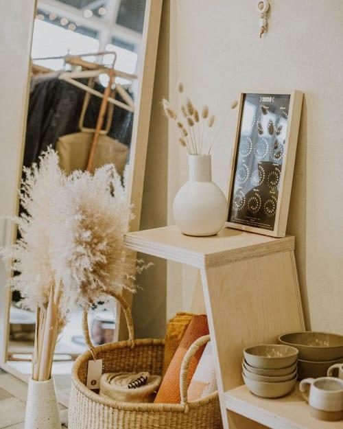 Vases & Vessels by Erika Arbour-Nevins (Wicked Wanda) seen at Fieldstudy, Calgary - White Ceramic Vase