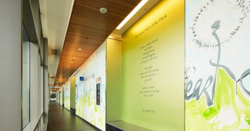 Murals by Shinique Smith seen at UCSF Medical Center at Mission Bay, San Francisco - Joy's Way