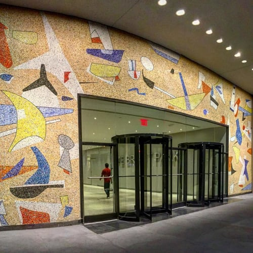 Street Murals by Max Spivak seen at 5 Bryant Park, New York - Mosaic Mural