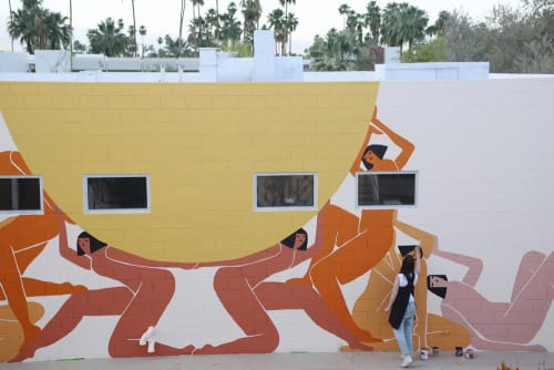 Murals by Laura Berger seen at Ace Hotel & Swim Club, Palm Springs - Lifting The Sun