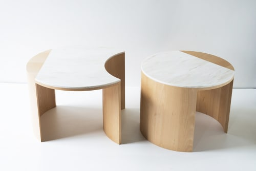 Tables by Robert Sukrachand at Café Integral, New York - Gibbous Coffee Table