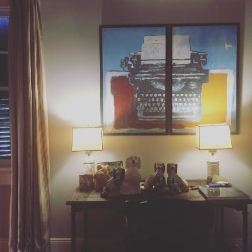 Paintings by Anne-Louise Ewen seen at Private Residence, New Orleans - Typewriter