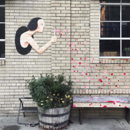Street Murals by Kantapon Metheekul at Long Island City, Queens - Teleport Girl