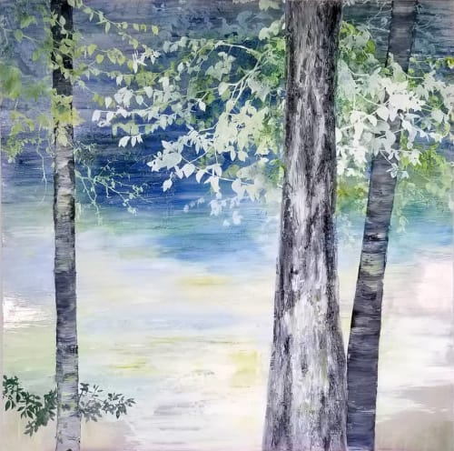 Paintings by Cara Enteles Studio seen at Cara Enteles Studio, New York - By The River