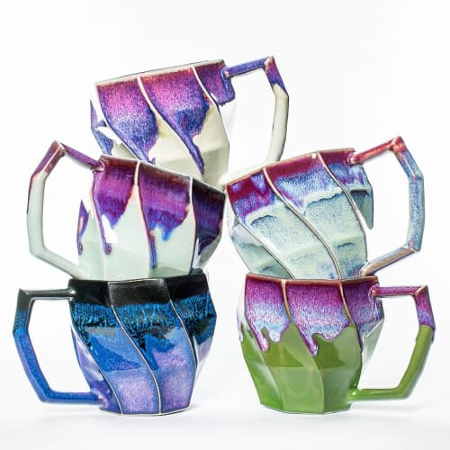 Cups by Hammerly Ceramics seen at Boulder area, Boulder - Geometric Ceramic Mug