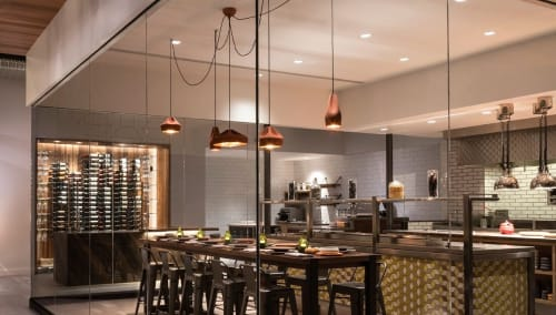 Lighting by Xavier Mañosa seen at Andaz Scottsdale Resort & Spa, Scottsdale - Pleat Box Suspension