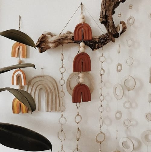 Wall Hangings by LENNON+BIRDIE seen at Private Residence - Rainbow hangings
