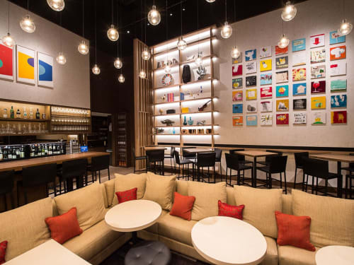 Paintings by Catman seen at Aldo Sohm Wine Bar, New York - Main Grid of 42 Pieces