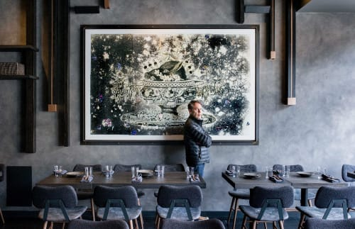 Paintings by Adam Siegel seen at Roister Restaurant, Chicago - Boar's Head