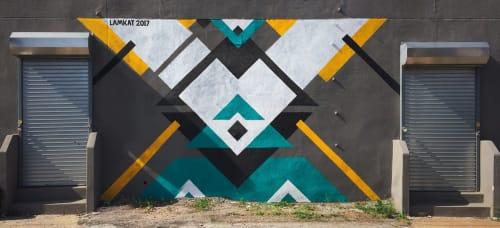 Street Murals by LAMKAT seen at Bushwick, Brooklyn, Brooklyn - Mural in Meserole Street
