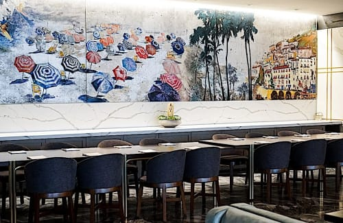 Murals by Letty Samonte seen at AVEO Table + Bar, Dana Point - Seaside Mural