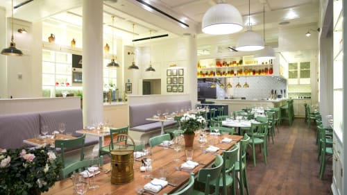 Chairs by Sedia Elite Srl seen at La Pecora Bianca, New York - Mint-green Classic Thonet Cafe Dining Chairs