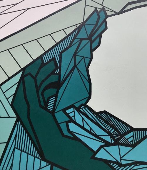 Murals by Allison Kunath seen at 555 aviation, El Segundo - Flow