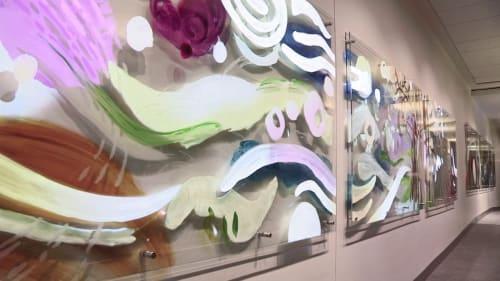 Paintings by Camille Utterbac seen at Liberty Mutual Insurance, Boston, MA, Boston - Flourish