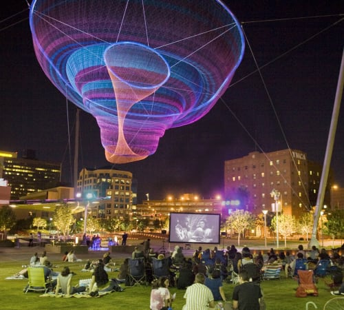 Public Sculptures by Janet Echelman at Civic Space Park, Phoenix, AZ, Phoenix - Her Secret is Patience