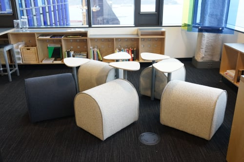 Chairs by george simons | office for DESIGN seen at Amazon, Seattle - Series One_2017_Sheep Stool and Bench