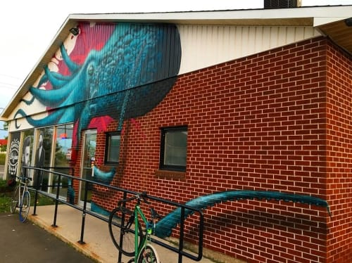 Murals by Christian Toth Art seen at Strict Union, Moncton - Mural