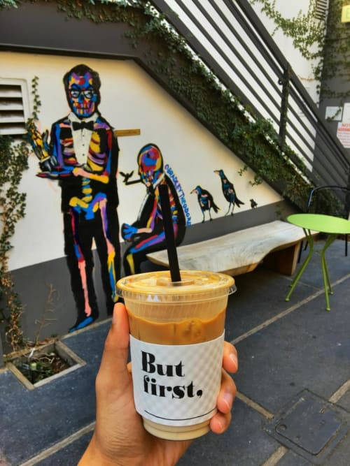 Murals by Bradley Theodore seen at Alfred Coffee (In The Alley), West Hollywood - Custom Mural On Exterior Wall