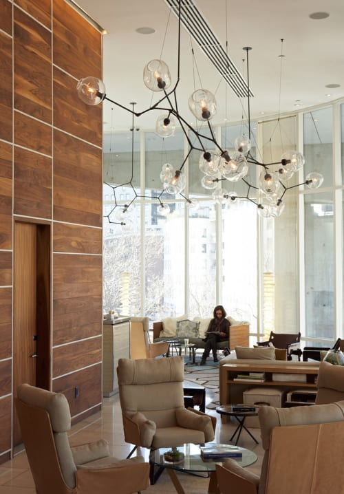 Chandeliers by Lindsey Adelman at The James New York, New York - Branching Bubble Chandelier
