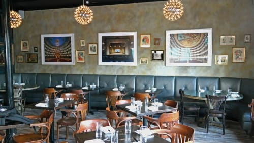 Wall Treatments by Sylvia T. Designs seen at Meauxbar, New Orleans - Faux Finished Wall