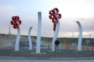 Public Sculptures by CJRDesign at Kennewick, Kennewick - Dancing Fields
