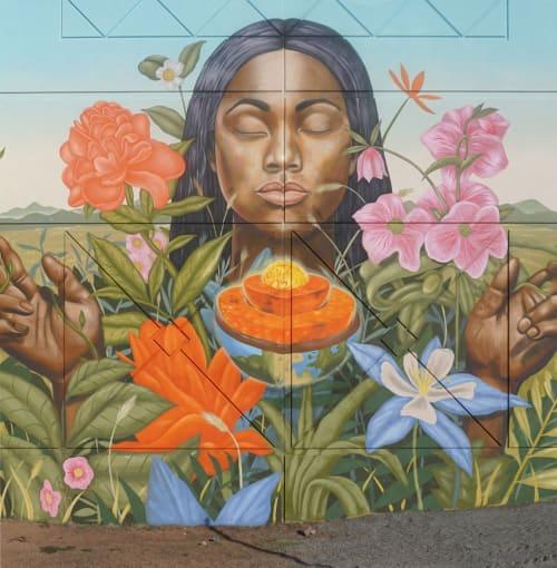 Street Murals by Aaron Glasson seen at Alameda Station, Denver - Broadway Park