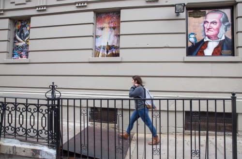 Street Murals by Graham Preston seen at 601 West 149th Street, New York - Mallard