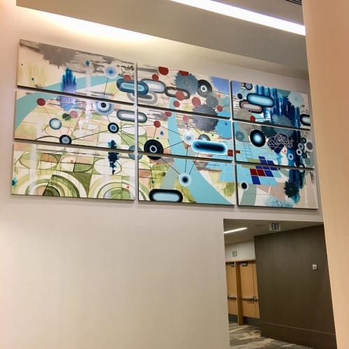 Paintings by Heather Patterson seen at The Westin Denver International Airport, Denver - En-Route- Denver International Airport