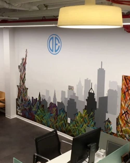 Murals by The DRiF seen at Douglas Elliman, New York - Mural