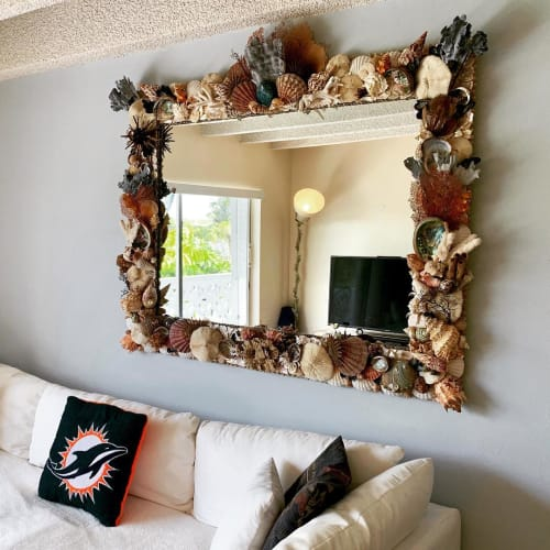 Wall Hangings by Christa Wilm seen at Private Residence, West Palm Beach - Organic Mirror