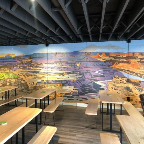 Murals by Josh Scheuerman seen at RoHa Brewing Project, Salt Lake City - RoHa Brewing Mural