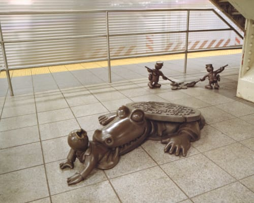 Sculptures by Tom Otterness seen at 14th Street & 8th Avenue Station, MTA, New York, NY, New York - Life Underground