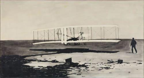 Paintings by Wally Hedrick seen at San Francisco International Airport, San Francisco - 17 December 1903