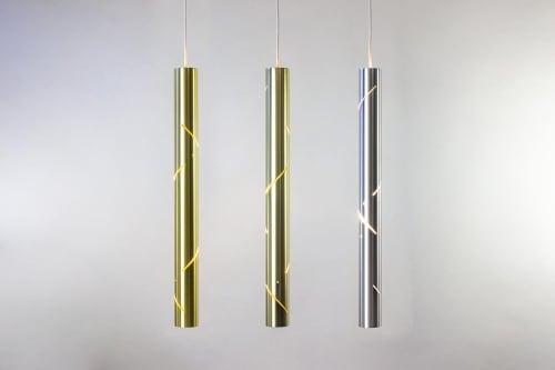 Pendants by ILANEL Design Studio Pty Ltd seen at Private Residence, Sydney - Black Rain