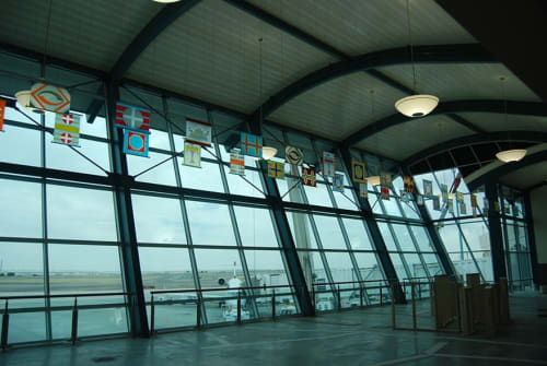 Paintings by Rae Mahaffey seen at El Paso International Airport, El Paso - Concourse B