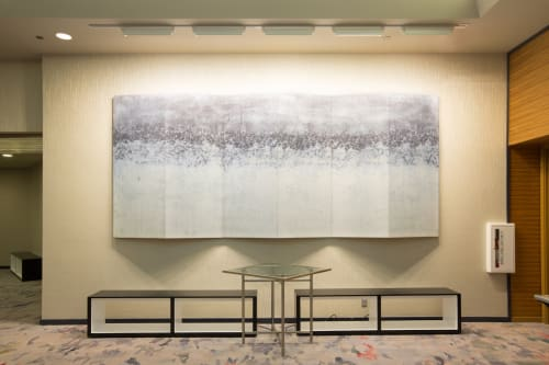Art & Wall Decor by Michael Jiroch seen at Loews Minneapolis Hotel, Minneapolis - Industrial Hued Folding Screen