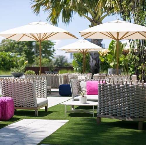 Chairs by Francesco Rota seen at Plant Food And Wine Miami, Miami - Wabi
