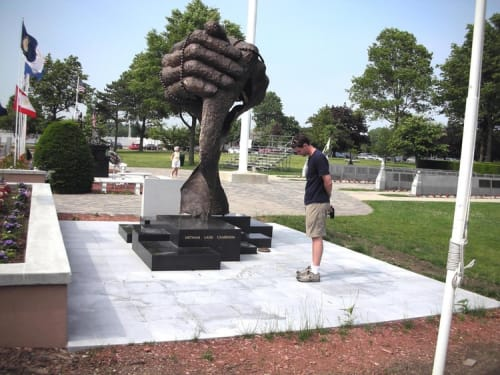 Public Sculptures by Joan Benefiel seen at Eisenhower Park, East Meadow, Westbury - The Nassau County Vietnam Veterans War Monument Commission