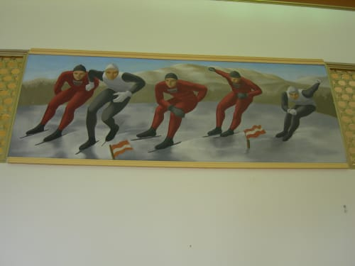 Murals by Henry Billings seen at United States Postal Service, Lake Placid, NY, Lake Placid - Scenes Of Winter Sports