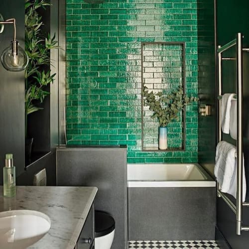Interior Design by Romilly Turner Design seen at Private Residence, London - Eclectic Bathroom Design