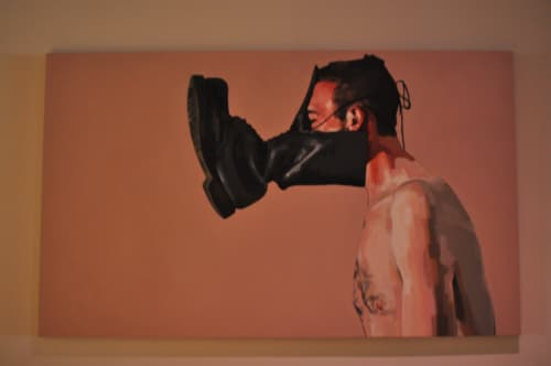 Paintings by Juan Monroy at Mister Jiu's, San Francisco - Boot 1